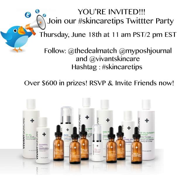 vivant skin care twitter party