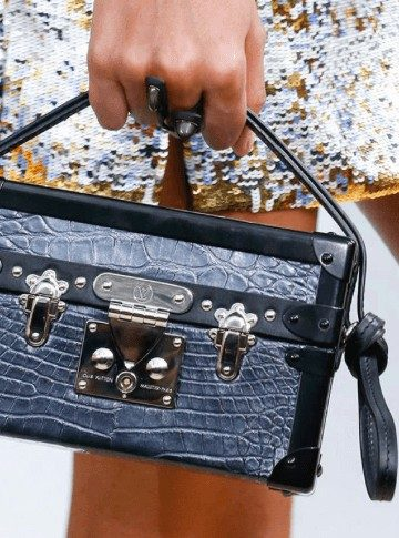 A visual from the Louis Vuitton Fall 2015 Ad Campaign ( New Bags)