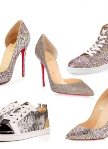 Christian Louboutin Glittered Red Sole Pumps and Sneakers Fall 2015 Collection
