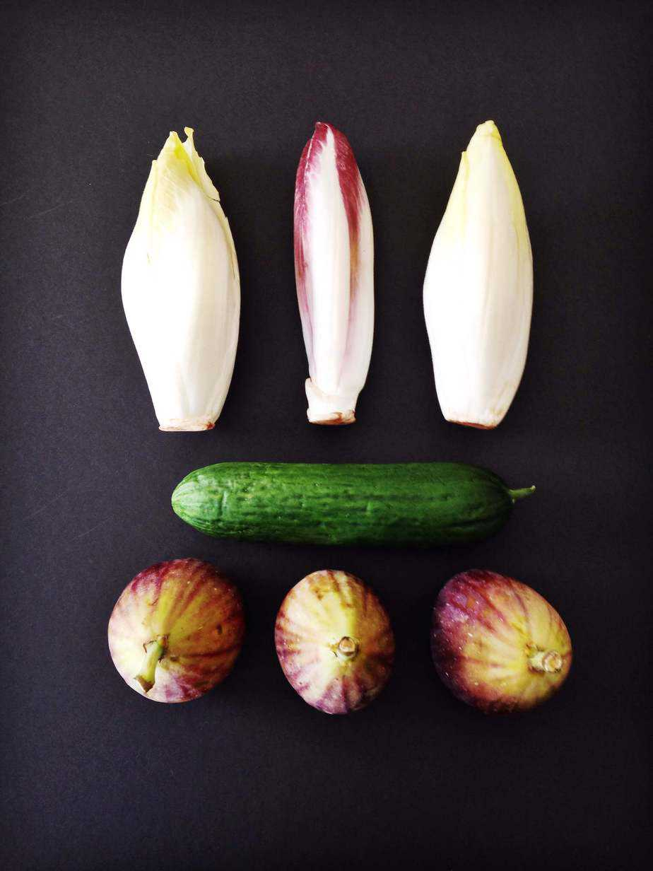 Cucumber, Fig and Belgian Endives Salad