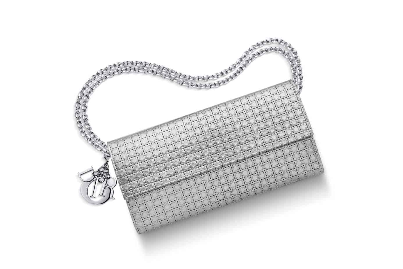 859ff2f3d7 Lady Dior CroisiÈre Wallet Silver Tone Perforated Calfskin Posh. Dior Lady  Croisiere Wallet Copper Gold Micro Cannage Metallic Calfskin