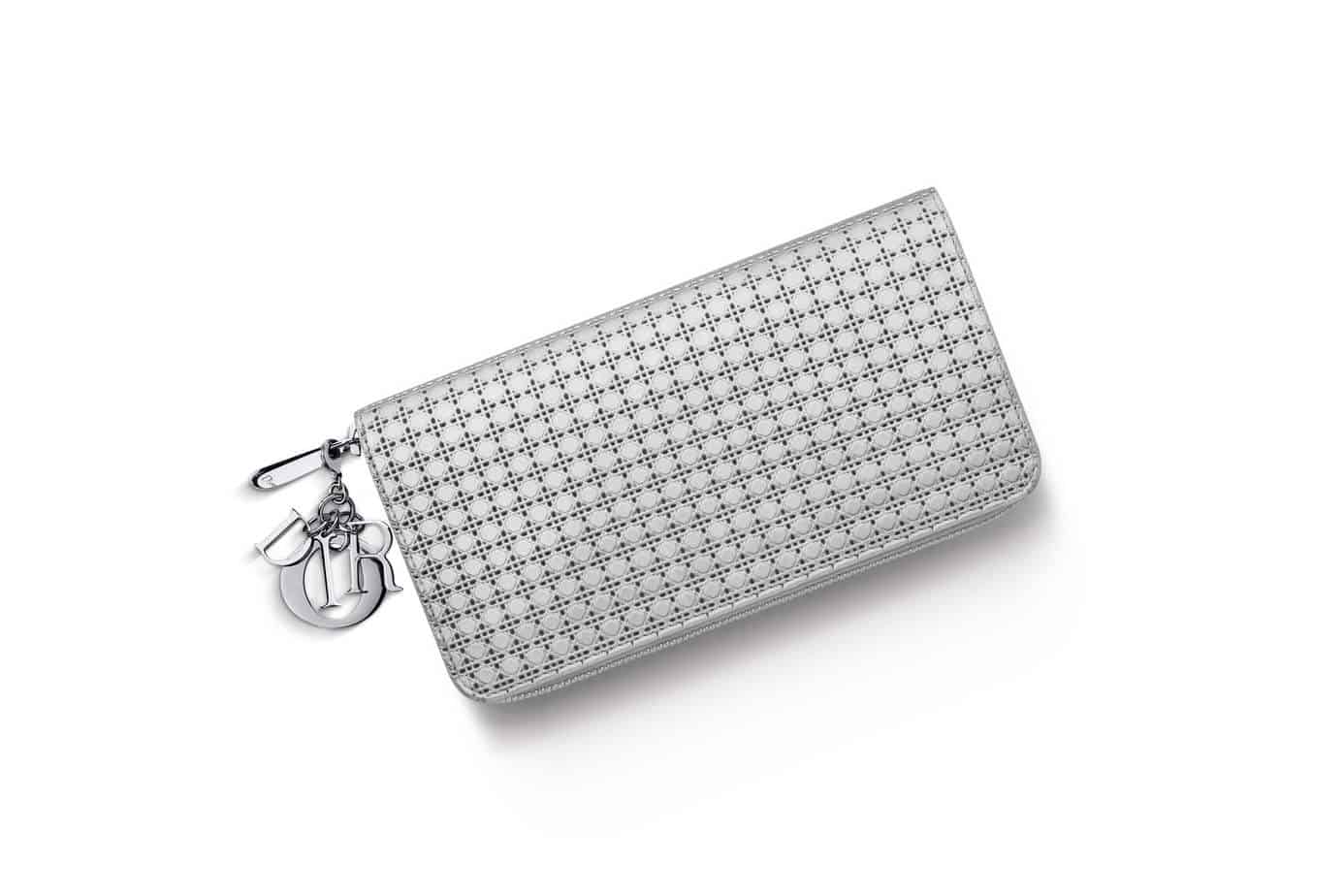 """LADY DIOR"""" VOYAGEUR WALLET SILVER-TONE PERFORATED CALFSKIN – Posh ... 1fe7d3d52579e"""