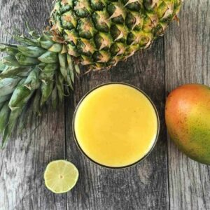 Pineapple Ginger Lime Mango Detox Drink