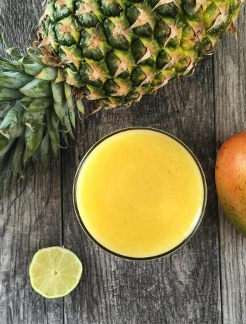 Pineapple Ginger Lime Mango Detox Drink