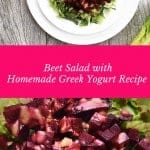 Radiant Beet and Lettuce Salad with Yogurt Dressing