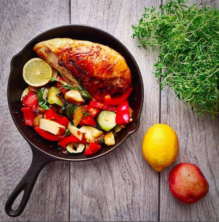 Chicken Skillet with Veggies and Potatoes