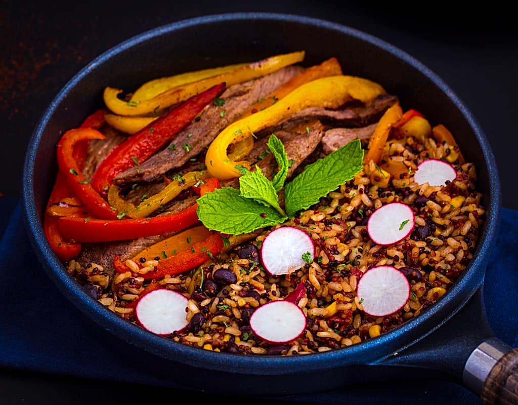 Steak Fajita Suddenly Grain Salad
