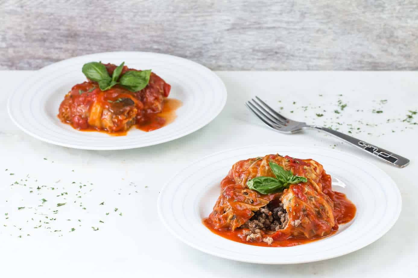 Cabbage Rolls with Beef and Mushroom in Tomato Sauce