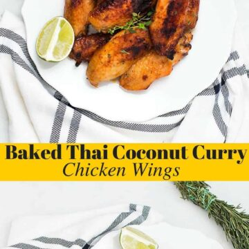 Baked Thai Coconut Curry Chicken Wings