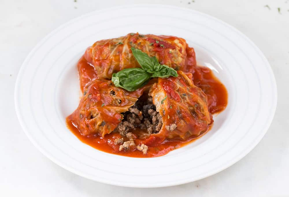 Cabbage Rolls with Beef and Mushroom