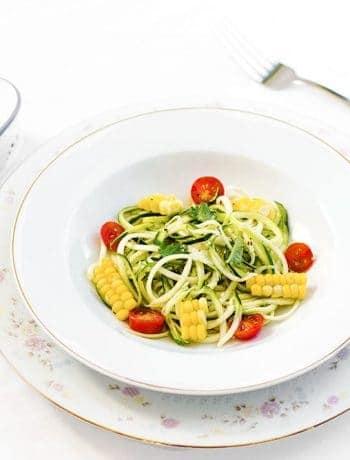Spiralized Zucchini and Corn on the Cob Salad