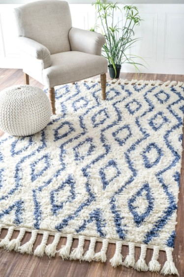 Savanna Moroccan Diamonds Shag Rug