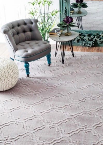 Tuscan VS169 Double Carved Trellis Rug