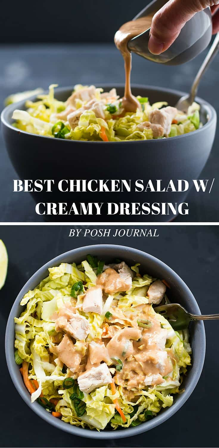 Best Chicken Salad - Creamy Peanut Butter Dressing