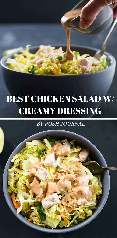 Best Chicken Salad - Creamy Peanut Butter Dressing