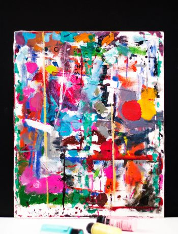 Bright Colorful Multicolor Abstract Art Painting Canvas