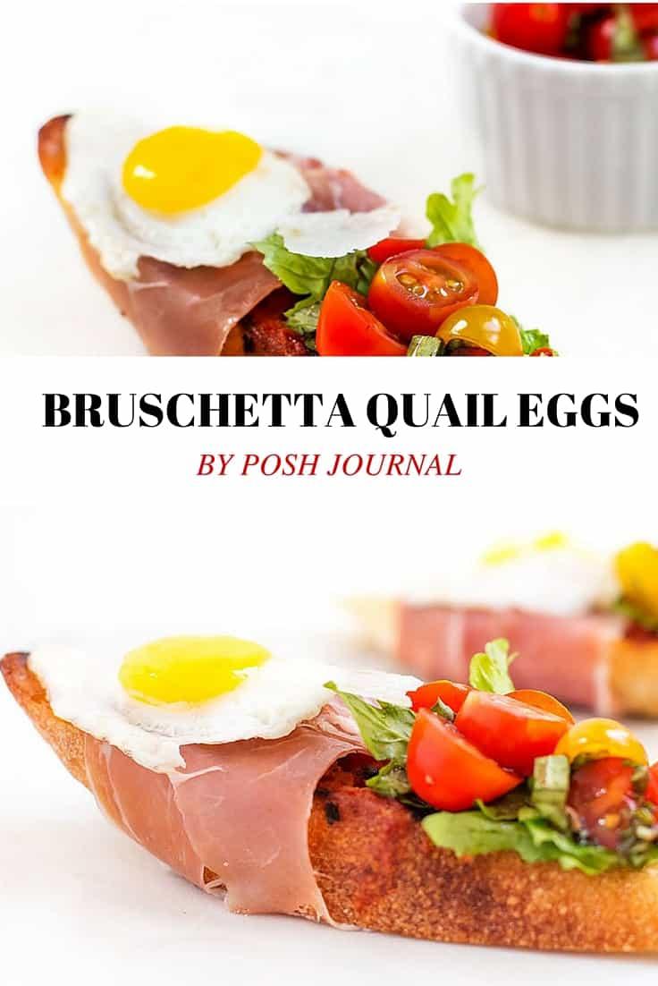 Bruschetta with Prosciutto, Tomato Basil