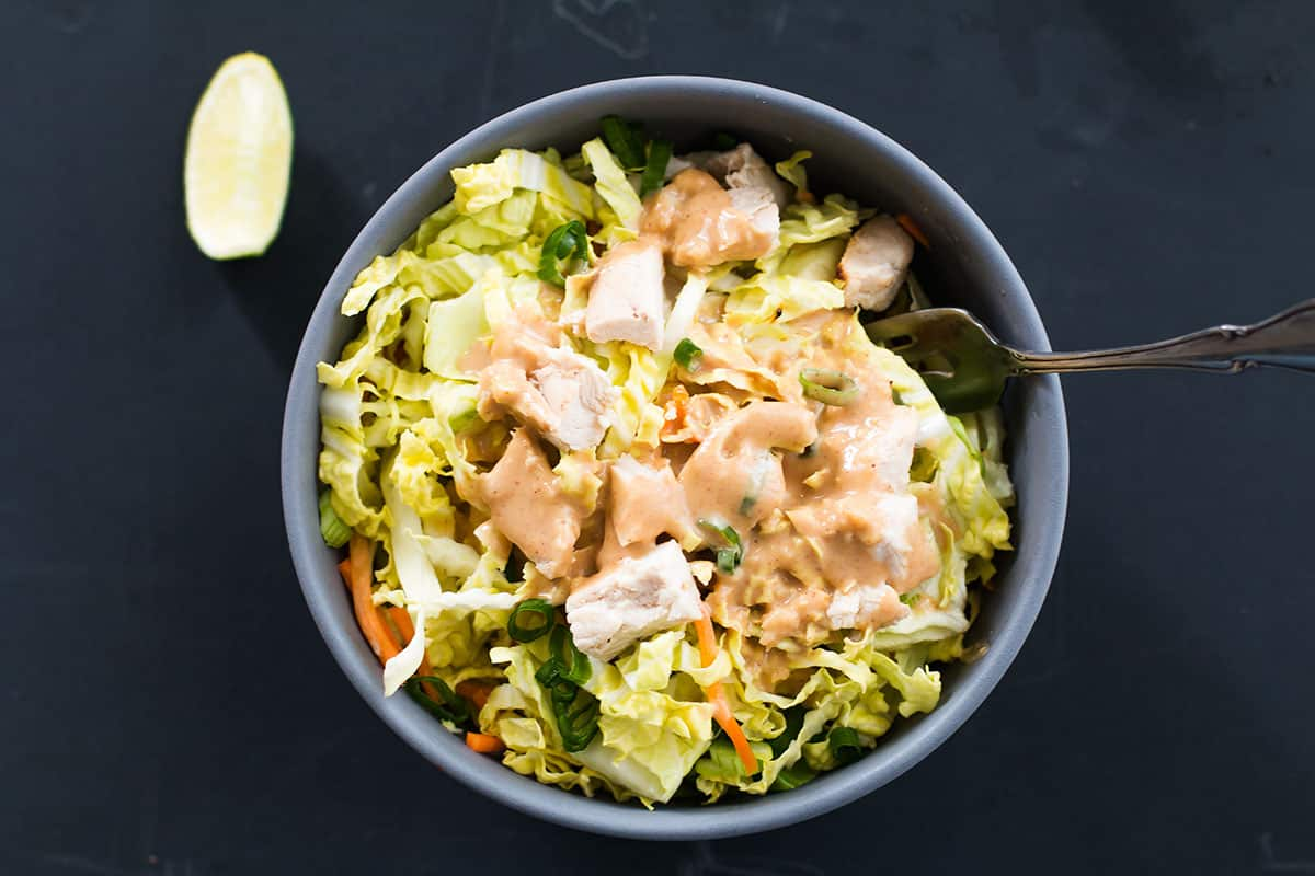 best chicken salad recipe with creamy peanut butter salad dressing