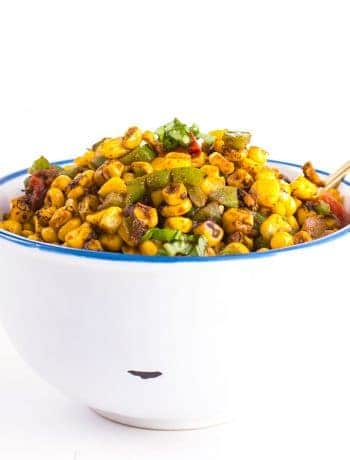 spicy cajun roasted corn salad