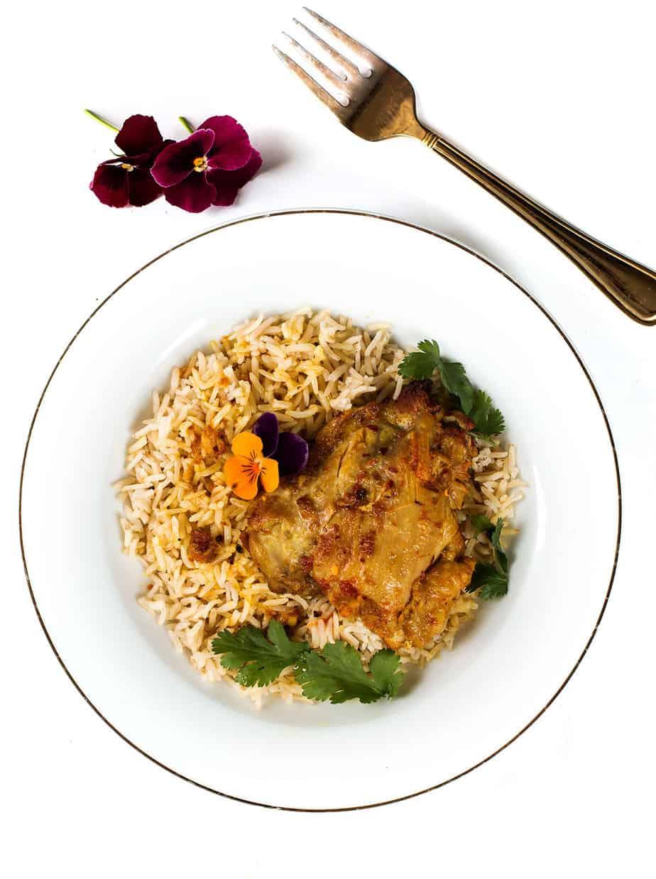Garlic Curry Yogurt Marinated Chicken Thighs