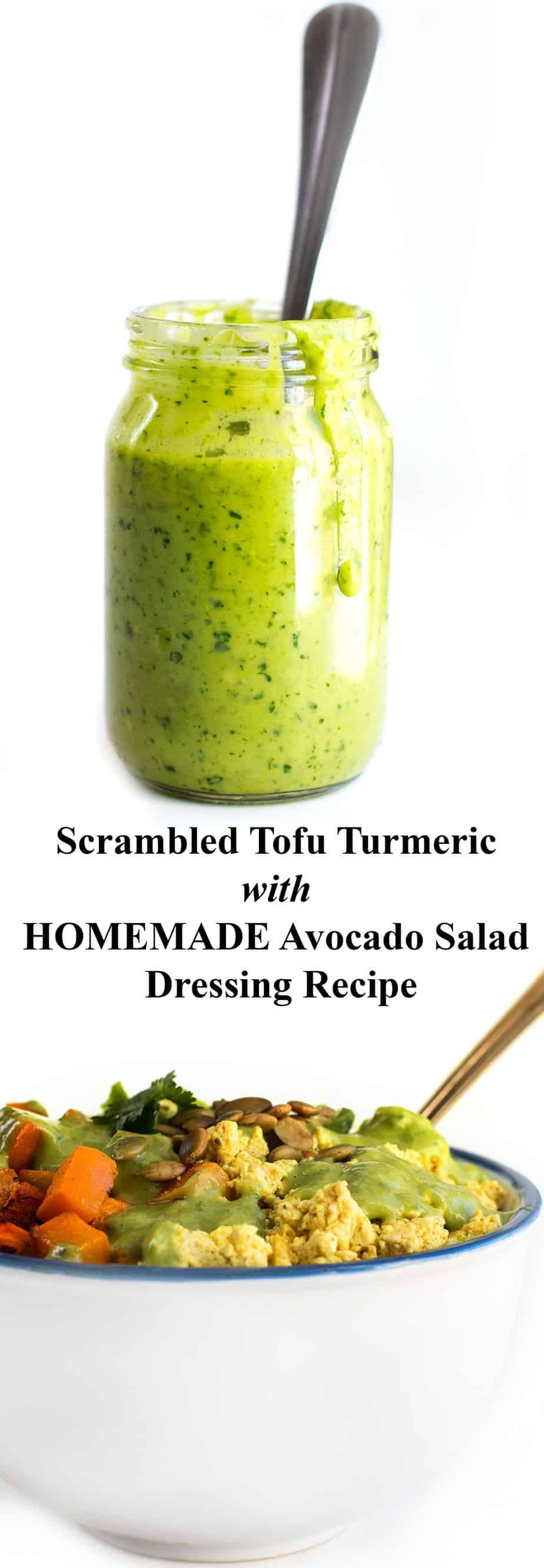 Scrambled Tofu Mixed Green Salad
