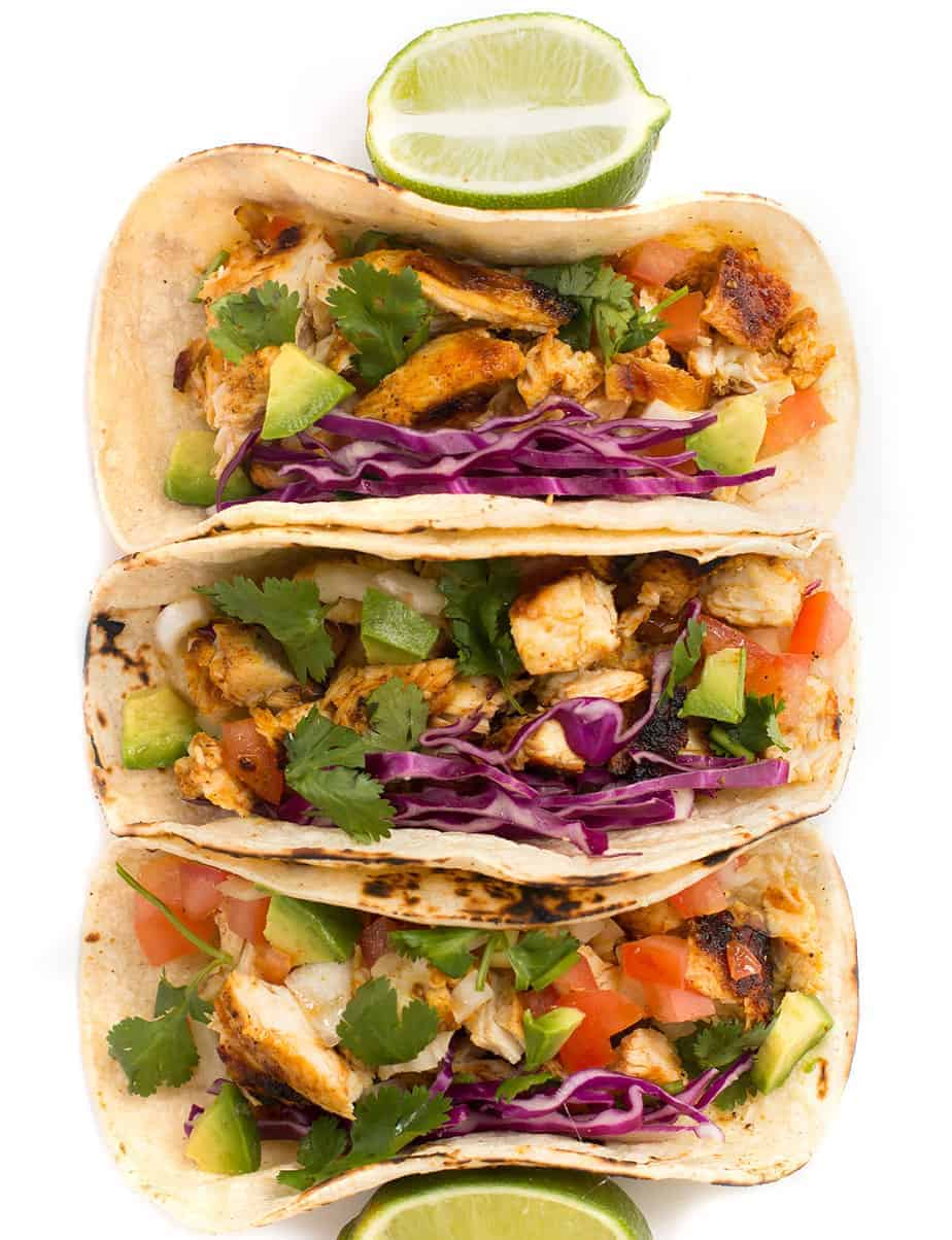 Grilled Lime Chicken Taco - Posh Journal