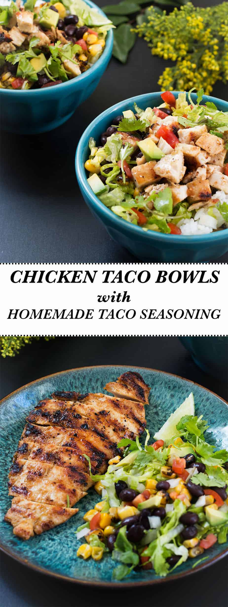 chicken-taco-bowls-homemade-taco-seasoning