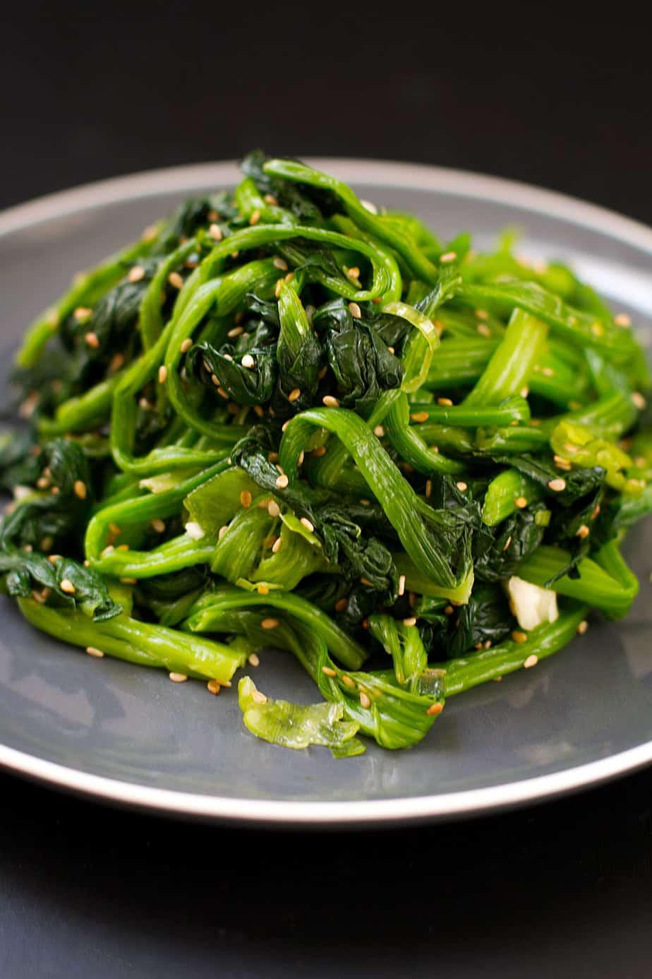 Korean Spinach Salad Recipe Siguemchi Namul Posh Journal