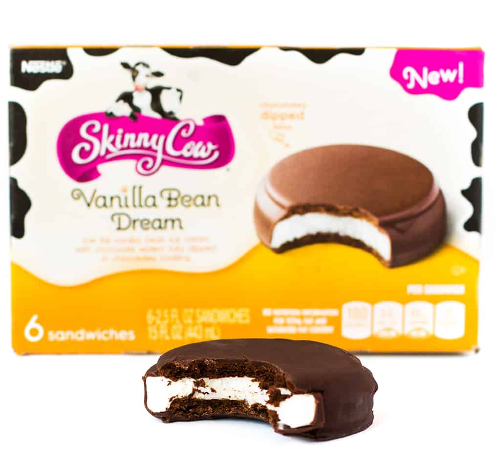 Skinny Cow Chocolately Dipped Ice Cream Sandwiches