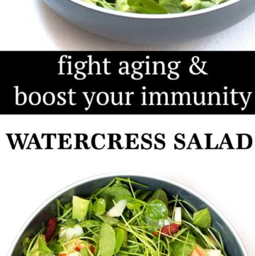 watercress salad. The Chinese watercress has a darker green color and crisper stem. Watercress is about as healthy a vegetable on Earth. In-fact, the superfood sets the bar (scores 100) in this article by the Washington Post which ranks powerhouse fruits and veggies. Watercress is the latest wonder food in battle against aging