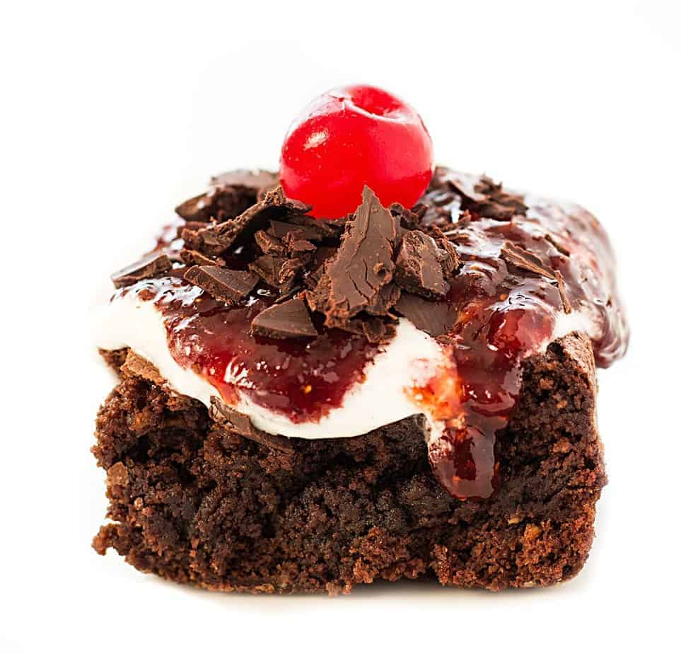 Chocolate Brownie Recipe With Strawberry Jam Topping