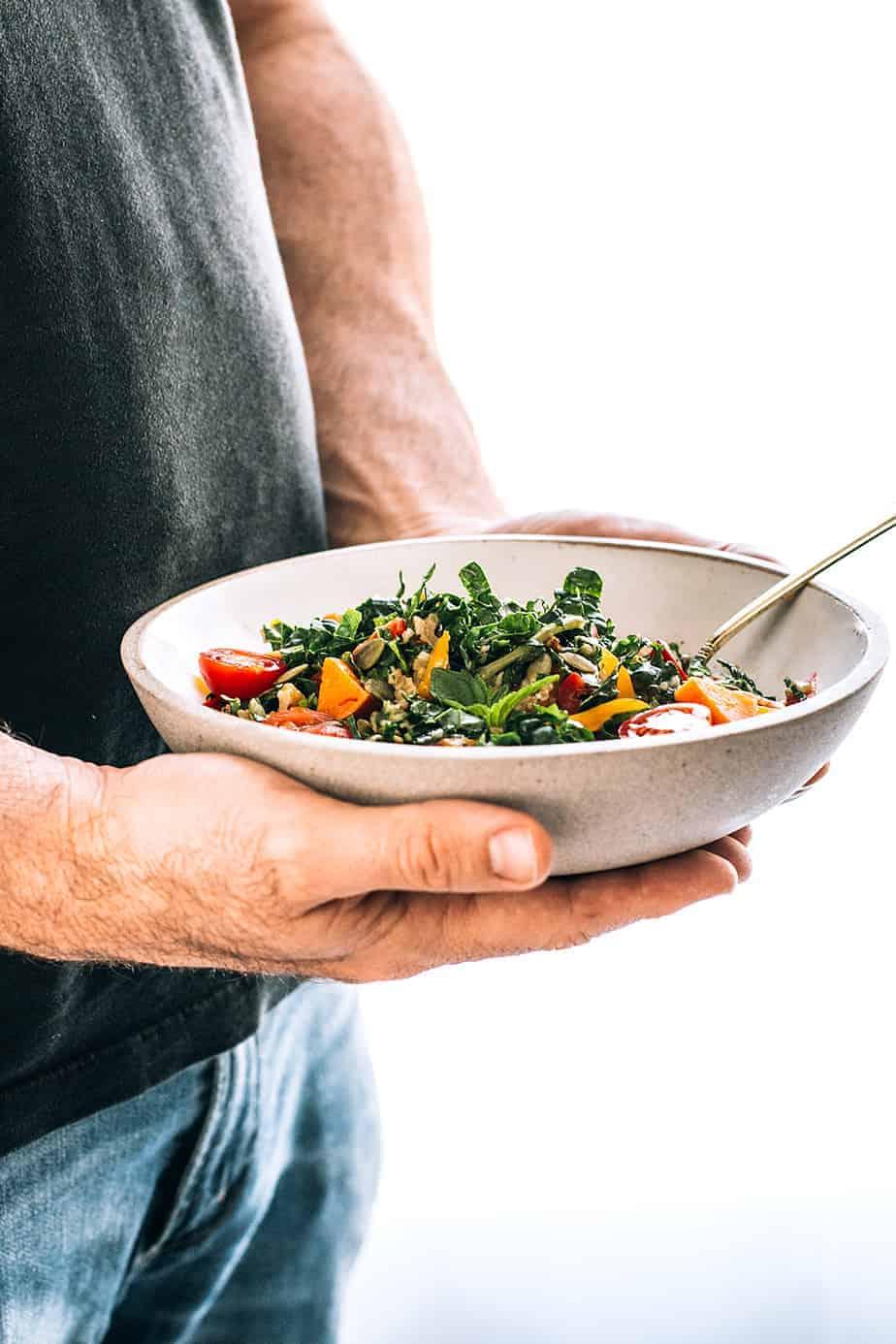 Freekeh Salad with Kale, Sweet Potatoes & Homemade Lime ...