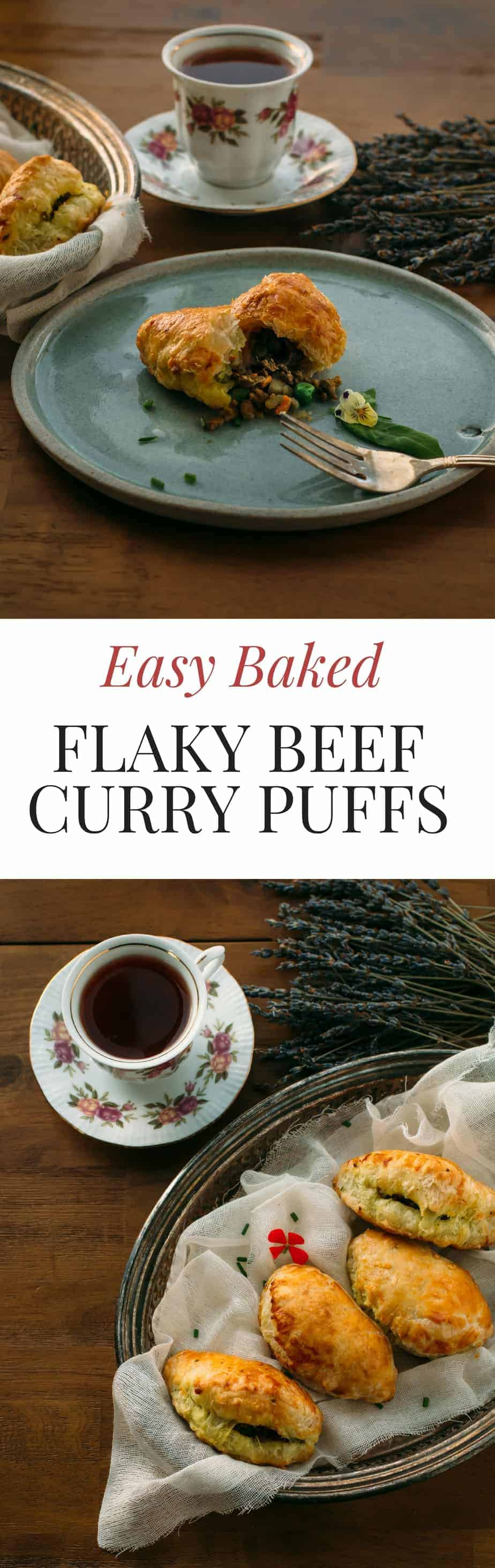 easy baked flaky beef curry puffs