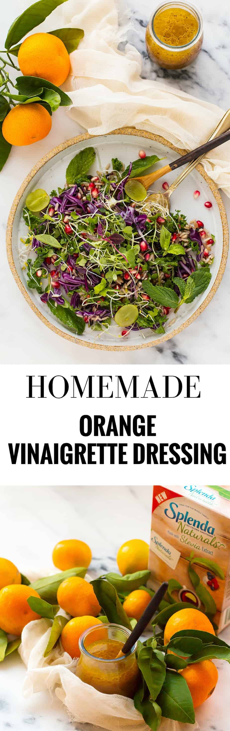 fall-salad-orange-vinaigrette-dressing. LOW CARB DRESSING WITH STEVIA