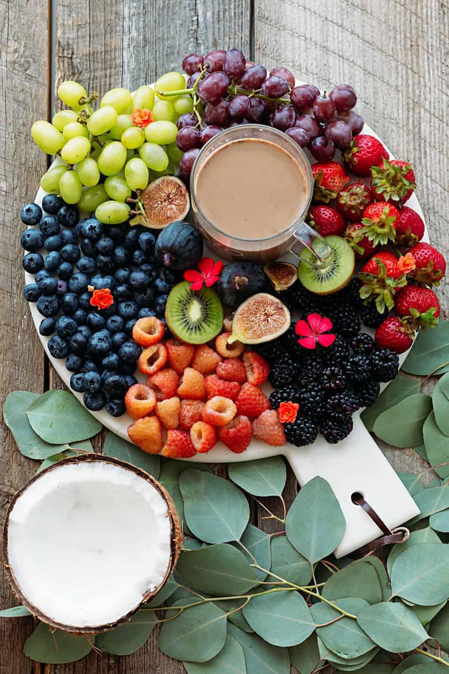 breakfast fruits starbucks coffee latte