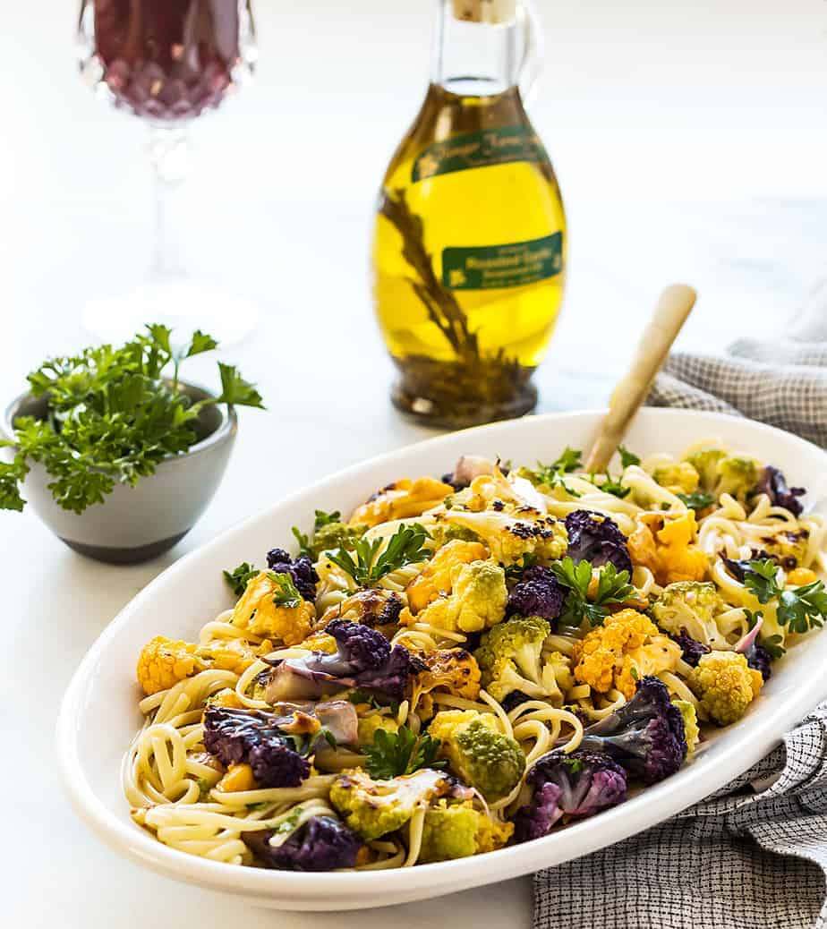 Lemon Pasta Roasted Cauliflower Recipe