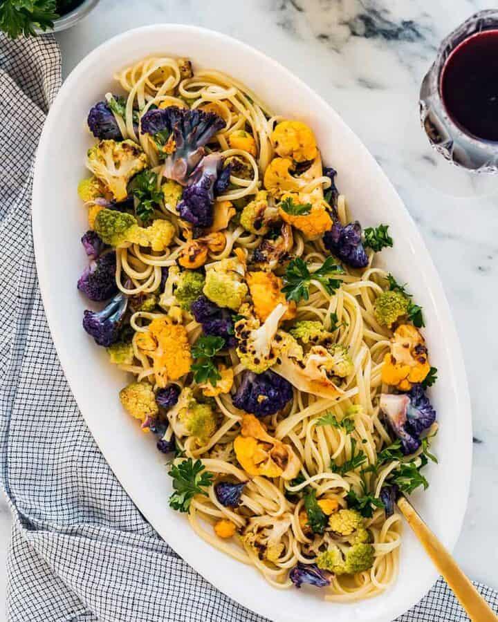 lemon pasta roasted cauliflower recipe