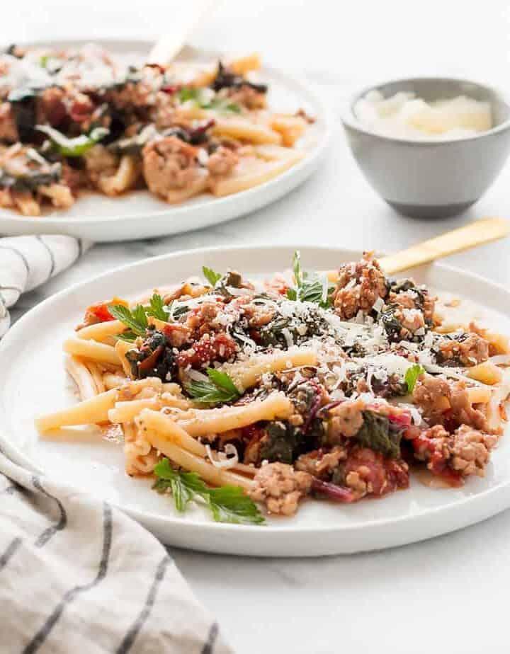 italian sausage pasta kale recipe