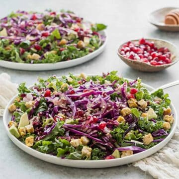 kale cabbage salad sesame dressing