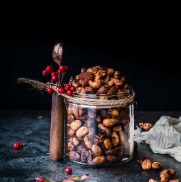slow cooker spiced nuts recipe