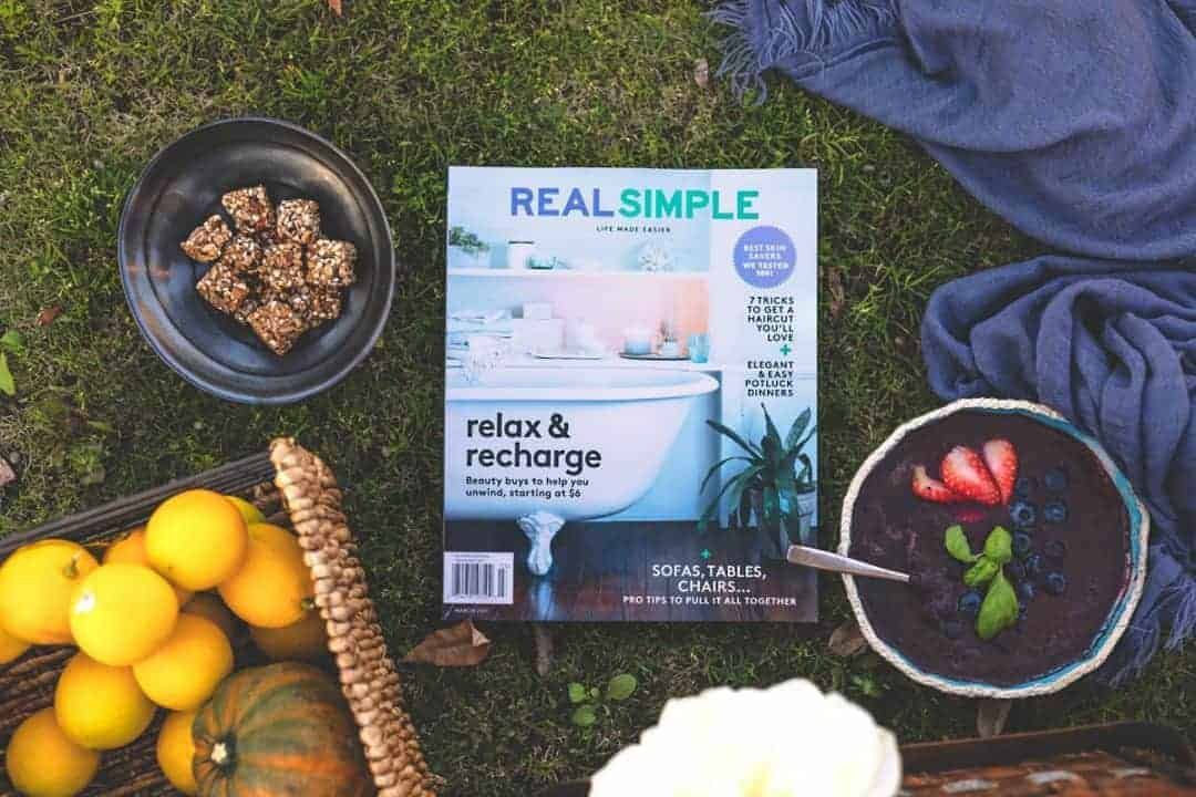 ME TIME WITH REAL SIMPLE MAGAZINE
