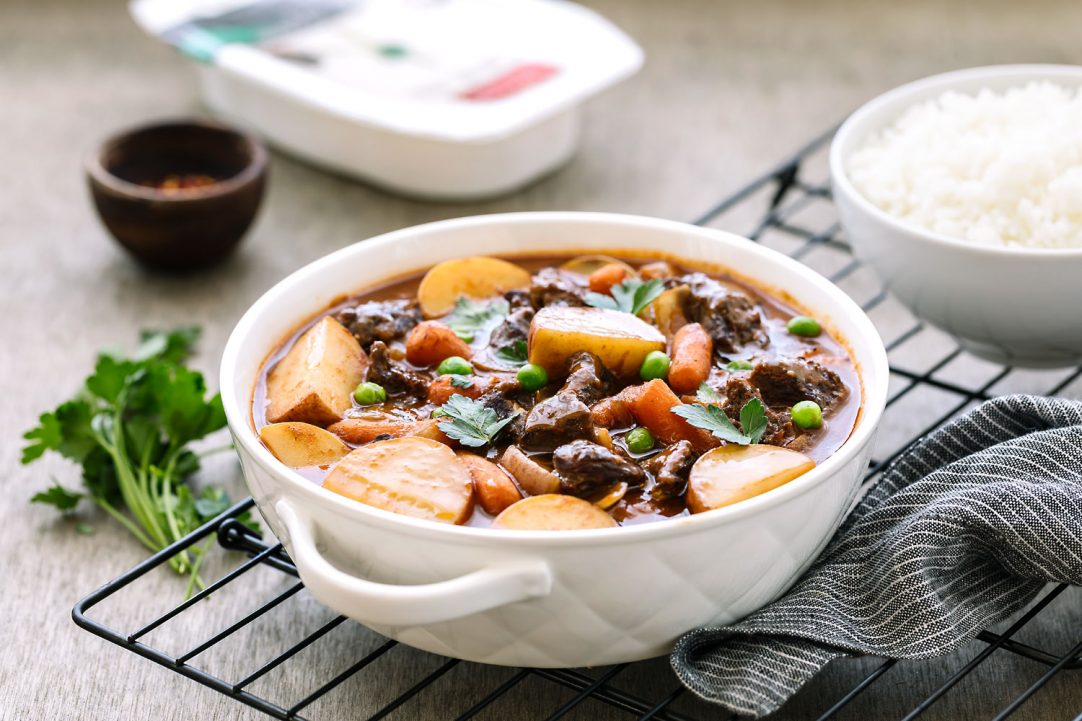 one pot beef stew slow cooker recipes with veetee rice