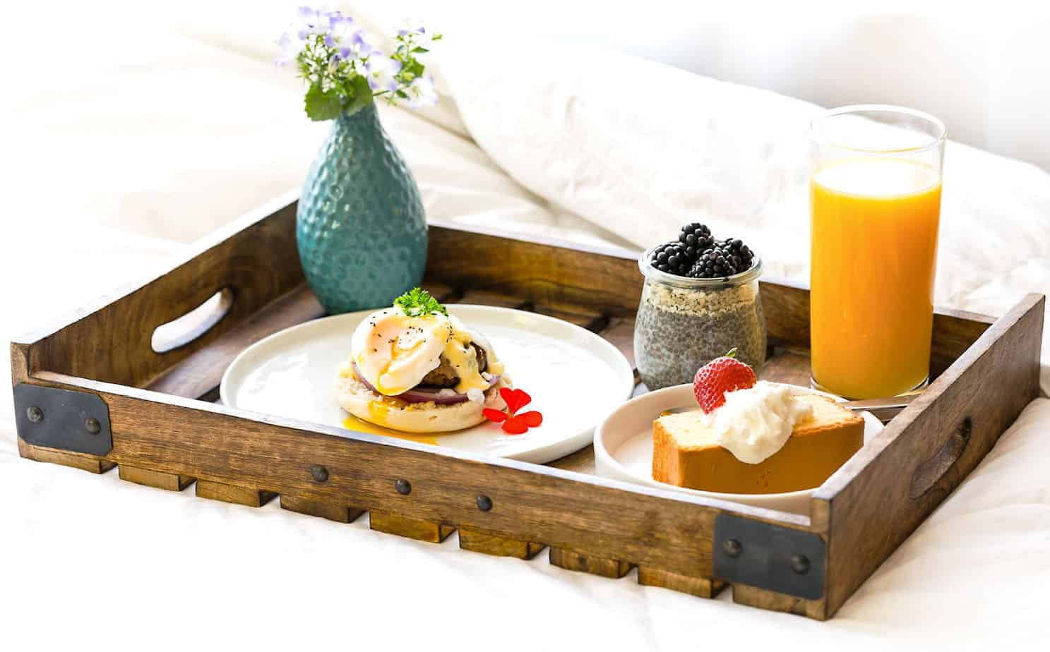 mothers day breakfast in bed idea with tyson and walmart