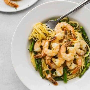 Garlic Butter Shrimp Scampi Pasta Recipes Asparagus