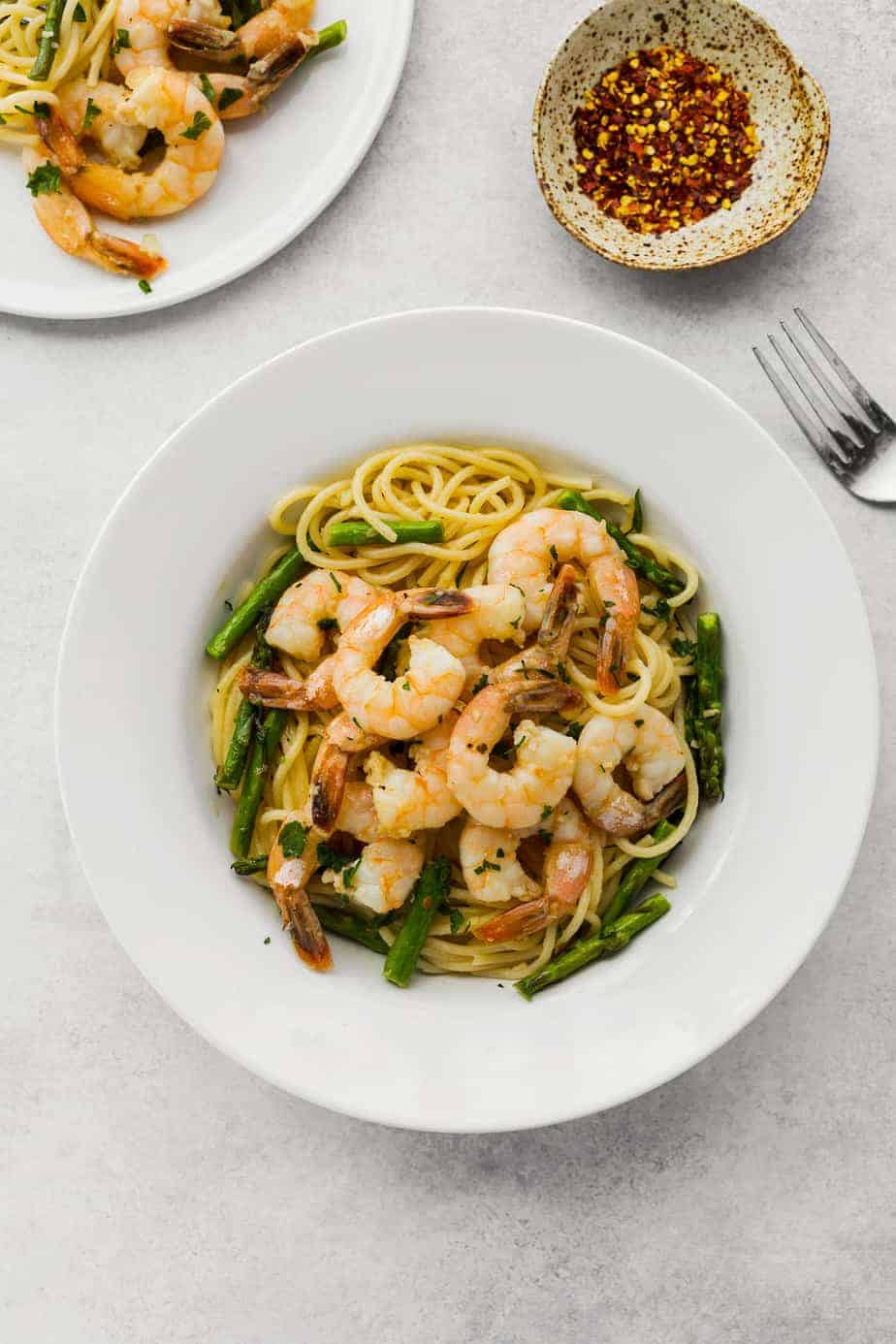 Garlic Butter Shrimp Scampi Pasta Recipes Asparagus