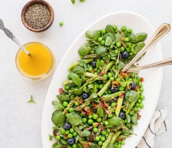 raw asparagus salad mustard shallot vinaigrette