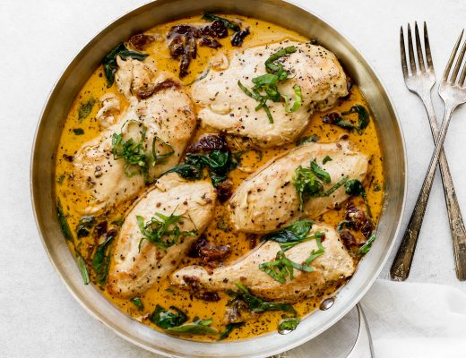 Sun Dried Tomato Chicken Breast with Cream Sauce Recipe