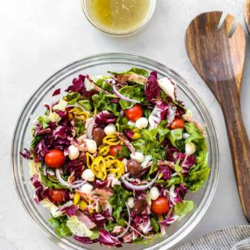 Italian Chopped Salad with Salami & Pepperoncini Peppers