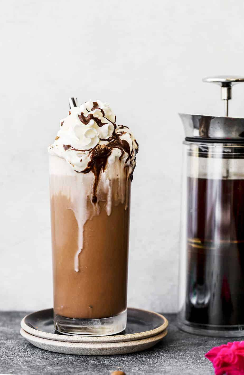 Iced Coffee Mocha with Homemade Chocolate Syrup