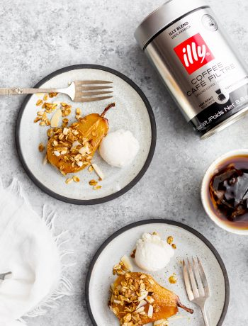 Baked Pears with Maple Syrup and Homemade Granola Illy Coffee